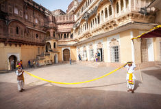 Excursion in Mehrangarh fort Royalty Free Stock Images