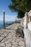Excursion path lungomare along the Adriatic coast Stock Photos