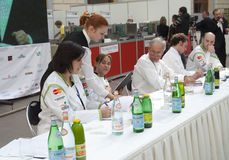 Excursion russe de d'Or de Bocuse - le jury Image stock