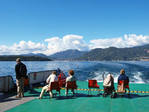 Excursion on the ship along Garda lake Royalty Free Stock Image