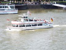Excursion ship. Cologne, Germany, 2014 Stock Photos