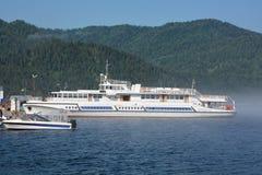 Excursion ship at the lake Royalty Free Stock Images