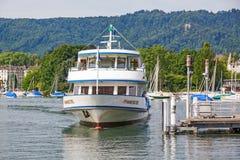 Excursion ship, Lake Zurich, Switzerland Stock Image