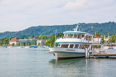 Excursion ship, Lake Zurich, Switzerland Stock Photography