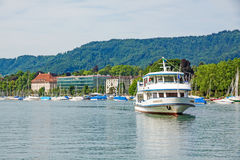 Excursion ship, Lake Zurich, Switzerland Royalty Free Stock Photography