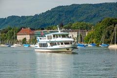 Excursion ship, Lake Zurich, Switzerland Royalty Free Stock Photos