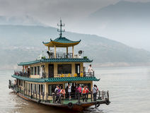 Excursion the ship sails on the Yangtze River Royalty Free Stock Photography