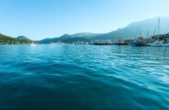 Excursion ships in bay.  (Greece, Lefkada) Royalty Free Stock Photos