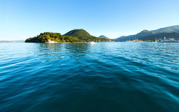 Excursion ships in bay.  (Greece, Lefkada) Royalty Free Stock Photography