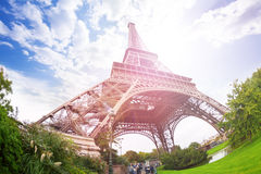 Excursion to the Eiffel Tower, Paris Stock Images