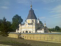 Excursion to the Kiev-Pechersk Lavra view of the old church. Tree landscape outdoor travel sky Stock Photo