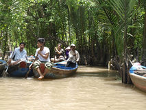 Excursion to the Mekong river Stock Photos