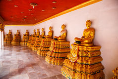 Excursion to the temple Wat Bang Riang Royalty Free Stock Image
