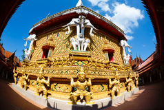 Excursion to the temple Wat Bang Riang Stock Image