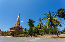 Excursion to the temple Wat Chalong Stock Photo