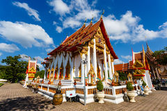Excursion to the temple Wat Chalong Royalty Free Stock Image