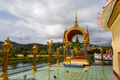 Excursion to the temple of Wat Plai Laem on the island Samui Royalty Free Stock Image
