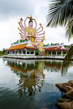 Excursion to the temple of Wat Plai Laem on the island Samui Royalty Free Stock Images