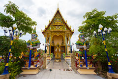 Excursion to the temple of Wat Plai Laem on the island Samui Royalty Free Stock Photo