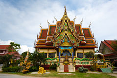 Excursion to the temple of Wat Plai Laem on the island Samui Stock Photo