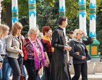 Excursion to the Trinity-Sergius Lavra, Russia Royalty Free Stock Photo