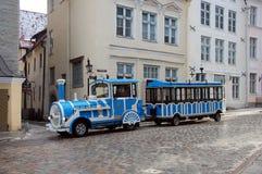 Excursion train in Tallinn Stock Photo
