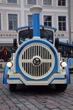 Excursion train on Tallinn street Royalty Free Stock Photos