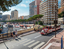 Excursion train with tourists in Monte Carlo Stock Photography