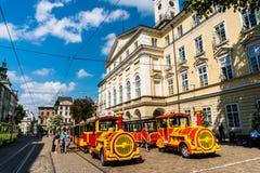 Excursion tram Royalty Free Stock Image