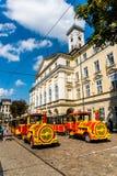Excursion tram Stock Photo