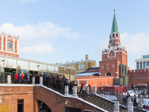 Excursion vers Moscou Kremlin image libre de droits