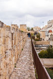 Excursion on Walls of Ancient City, Jerusalem Royalty Free Stock Photo