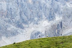 Excursions sur les dolomites 2018 photos stock
