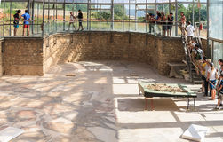 Excursão à casa de campo Romana del Casale, praça Armerina, Sicília Foto de Stock Royalty Free
