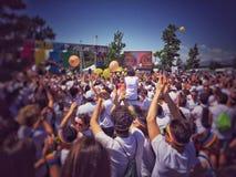 A excursão 2015 da corrida da cor Imagens de Stock Royalty Free