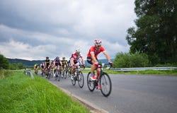 Excursão 2016 do ciclismo de Krkonose Fotografia de Stock