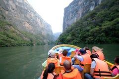Excursão na garganta del Sumidero Foto de Stock Royalty Free