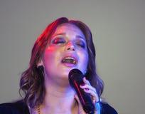 Execução cristã de Christine D Clario do cantor Imagens de Stock