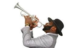 Execução da trompetista imagens de stock