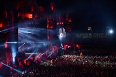 Execução do DJ Fedde Le Grande viva na fase Fotos de Stock