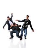 Execução dos dançarinos de Hip Hop Imagem de Stock Royalty Free