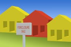 Execução duma hipoteca Imagem de Stock