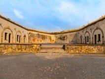 Execução moída na fortaleza de Terezin fotos de stock