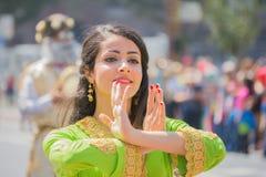 Execução persa do dançarino Foto de Stock Royalty Free
