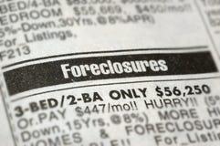 Execuções duma hipoteca Fotografia de Stock Royalty Free