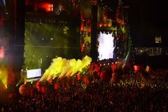 Execução do DJ Fedde Le Grande viva na fase Imagem de Stock