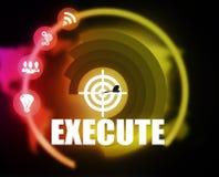 Execute concept plan graphic Royalty Free Stock Photos