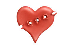 Executed heart 1 Royalty Free Stock Image