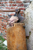 Execution axe and head, Fair, Medvedgrad, Europe 2015. Stock Photos
