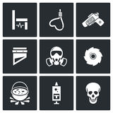 Execution icons. Vector Illustration. Royalty Free Stock Images